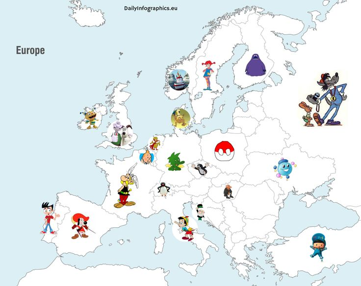 Infographic: The Most Well-Known European Cartoon Characters - OneEurope