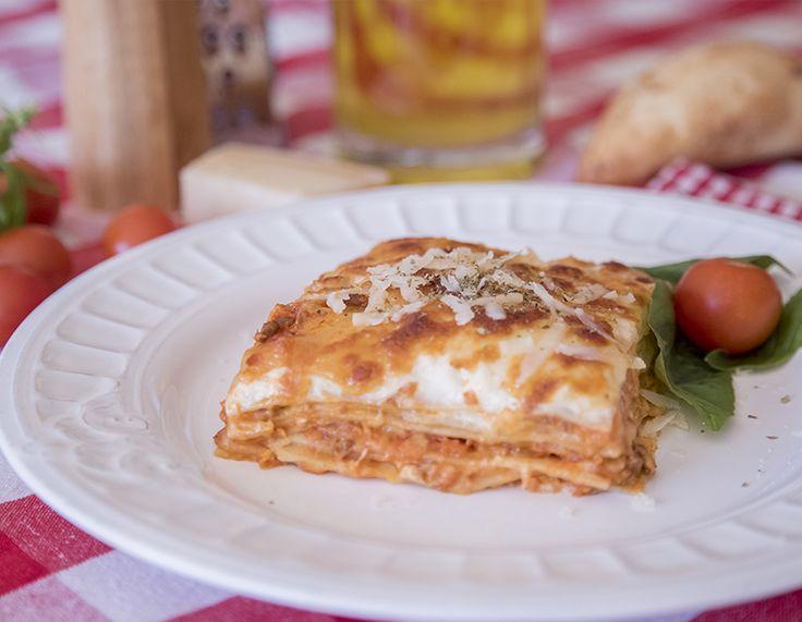 #Receta LASAÑA BOLOÑESA fácil y de sencilla elaboración #dietamediterranea #lasaña #lasagna #boloñesa