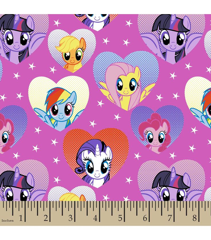 Hasbro® My Little Pony® Framed Ponies In Hearts Cotton Fabric