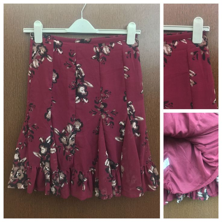 In store now: Black Brown Flowe..., visit http://ftfy.bargains/products/black-brown-flowers-printed-maroon-skirt?utm_campaign=social_autopilot&utm_source=pin&utm_medium=pin  #amazing #affordable #fashion #stylish