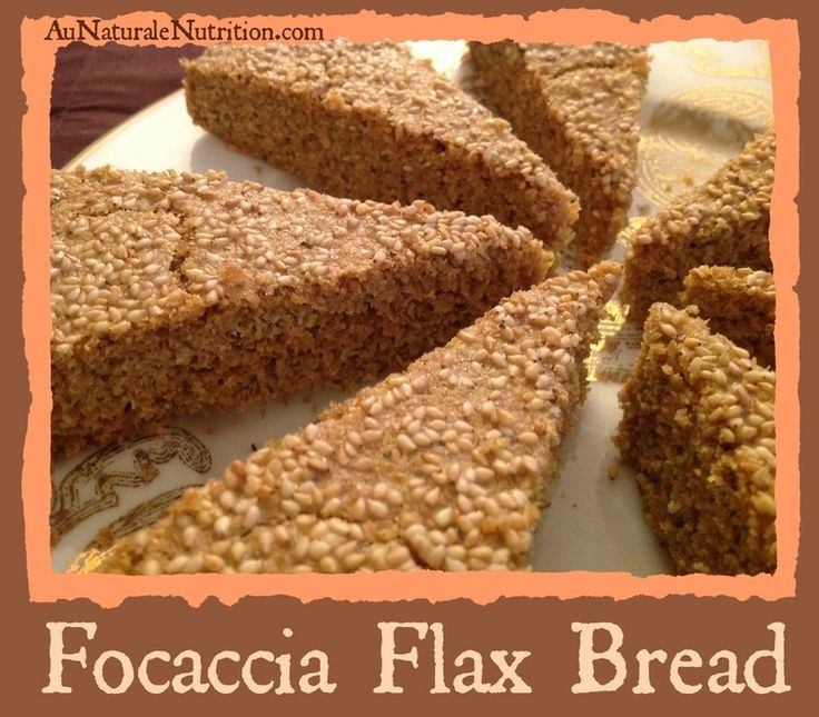 Focaccia Flax Bread - Au Naturale!  This delicious bread is baked flat in a pan.  Great for sandwiches, dinner rolls, and more...  YUM! (paleo, gluten free)  By www.aunaturalenutrition.com