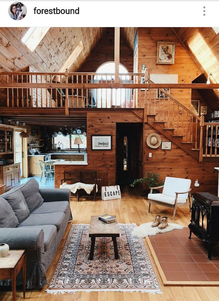 Pin By Sarah Morrow On Compact Living Modern Cabin Decor A