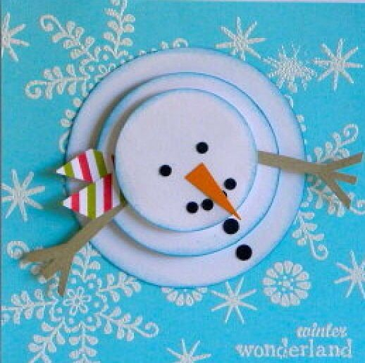 Super cute snowman Christmas Card!