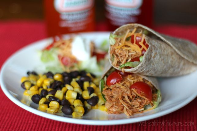 Taco Tuesday! 3-Ingredient Chicken3 Ingredients Chicken3, Tacos Seasons, Chicken Recipe, Slow Cooker Chicken, Chicken Tacos, 3 Ingredients Crock Pots, Healthy Kitchens, Crock Pots Chicken, Shredded Chicken