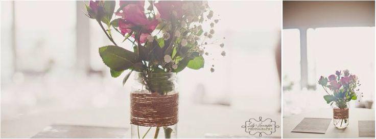 Mason jars, flowers, roses, wedding decoration, babies breath. Natural light. Perth wedding photographer. Lilly & Herrington Photography. Www.lillyandherrington.com
