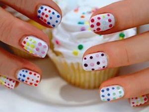 Rainbow Dot Nails