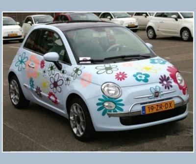 "5ooblog | FIAT 5oo: New Fiat 500 ""FLOWERS"""