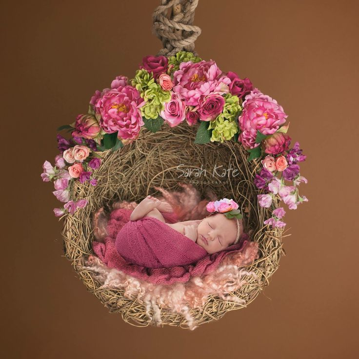 © Sarah Kate Photography  This image is a composite using two separate images for baby safety.  Newborn photos