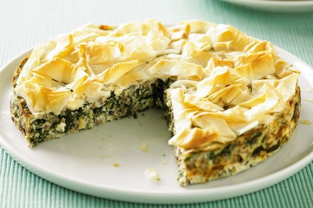 Autumn lamb makes a wonderful match with the soft textures of cheese and spinach. Spinach, lamb and cheese pie
