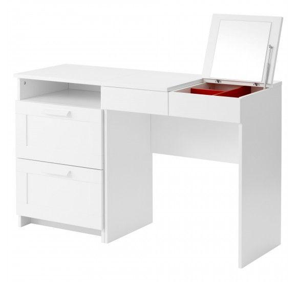 БРИМНЭС Туалетный столик+комод с 2 ящиками, белый S89122376