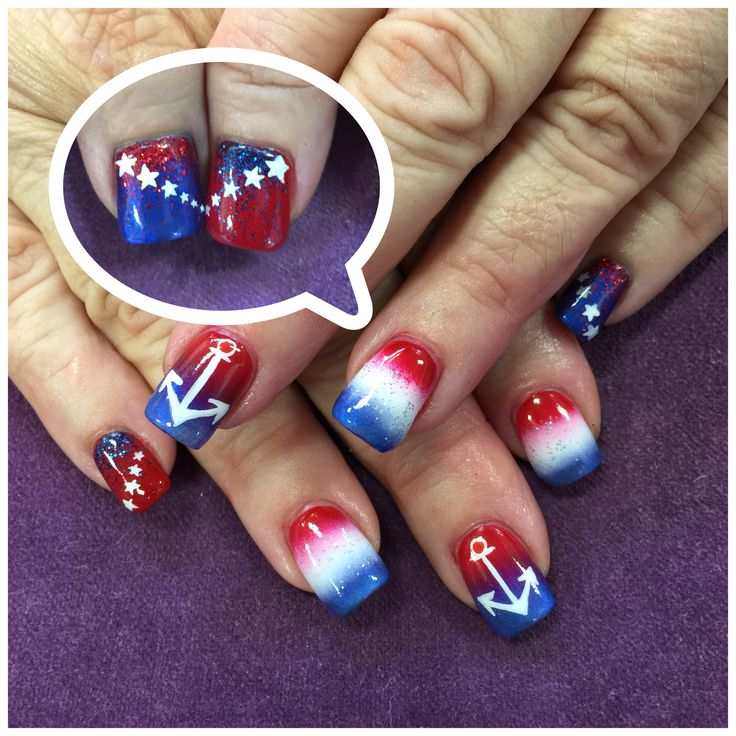 Nail Art Blue And Red: 1000+ Images About Nail Art On Pinterest