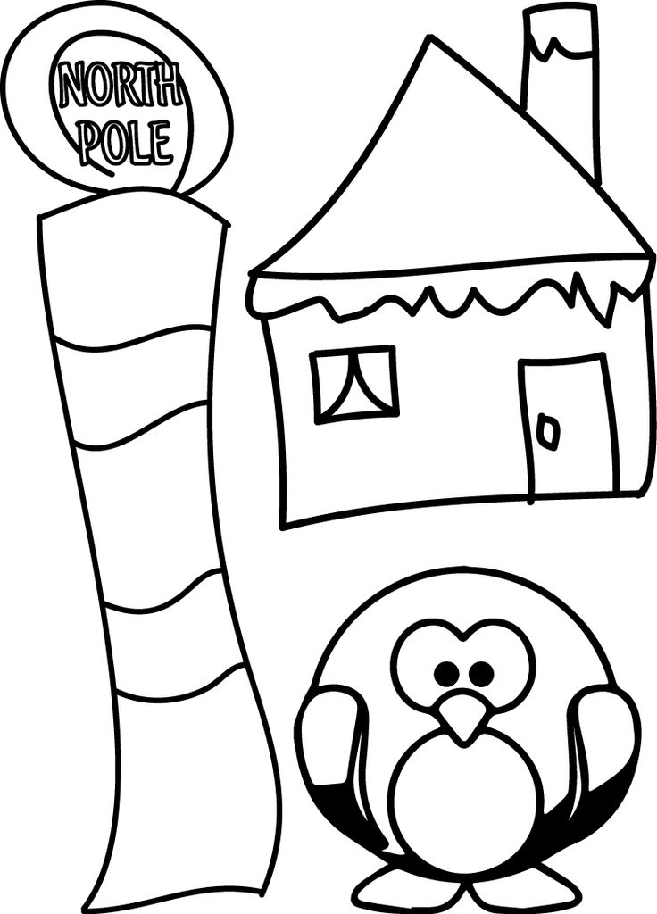 north pole sign coloring page sketch coloring page