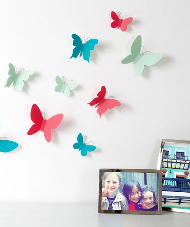 .Mariposas para Paredes Multicolor
