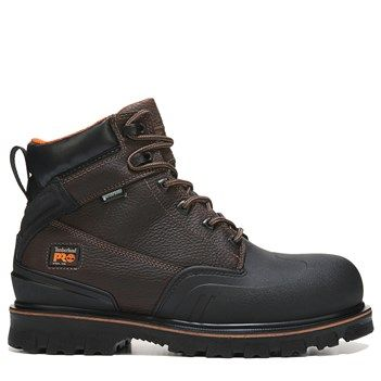 "Timberland Pro Men's 6"" Rigmaster XT Medium/Wide Steel Safety Toe Work Boots (Brown Leather)"