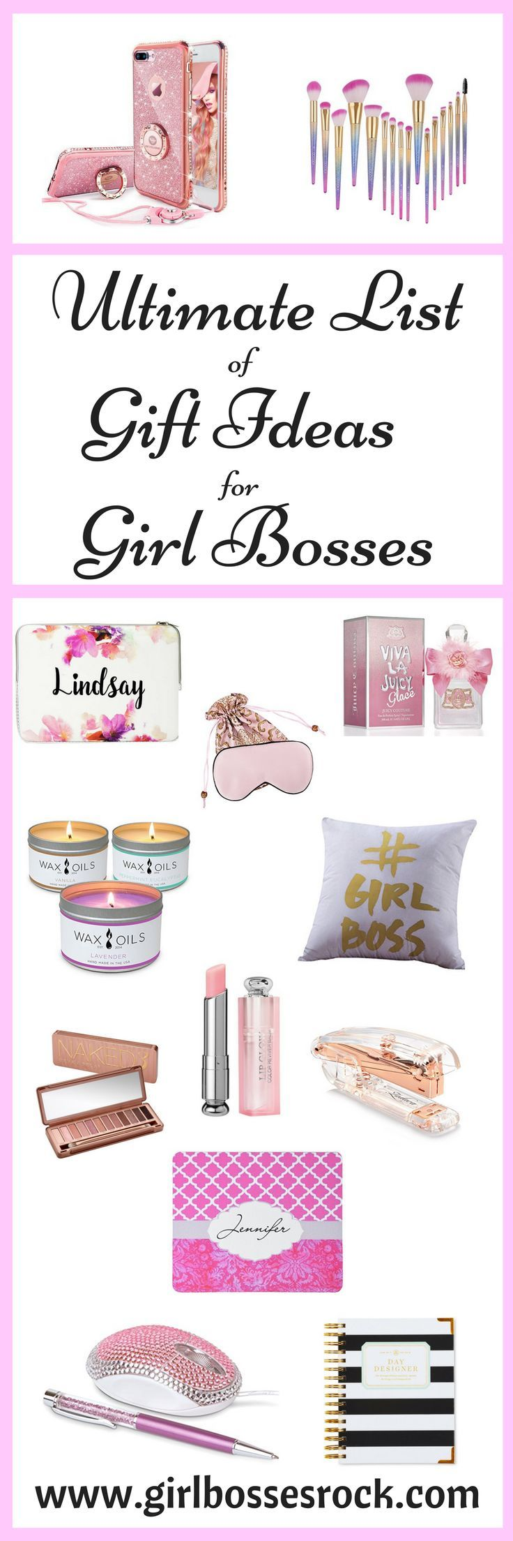 Ultimate List Girl Boss Gifts! The beauty gifts for Girl Bosses will make your gift shopping a piece of cake this year! Every Girl Boss prides herself on looking great and these gift ideas will surely be a hit!