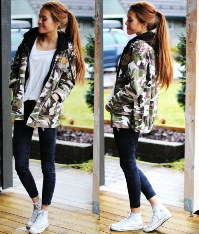 Cute School Outfit Ideas With Converse 18