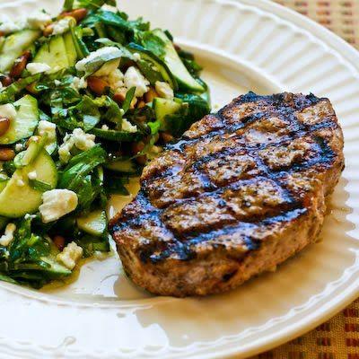 Grilled Pork Chops with Lemon, Garlic, and Sage