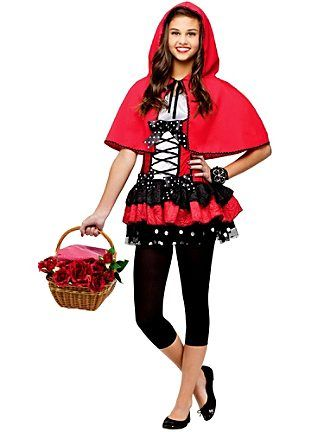 wholesale prices on teen sweet red hood girls costumes with same day shipping