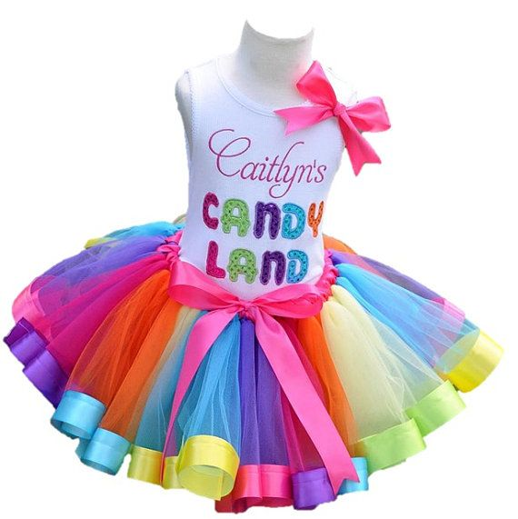 Candyland Tutu Outfit- 2 Piece Set - FREE SHIPPING on Etsy, $22.99
