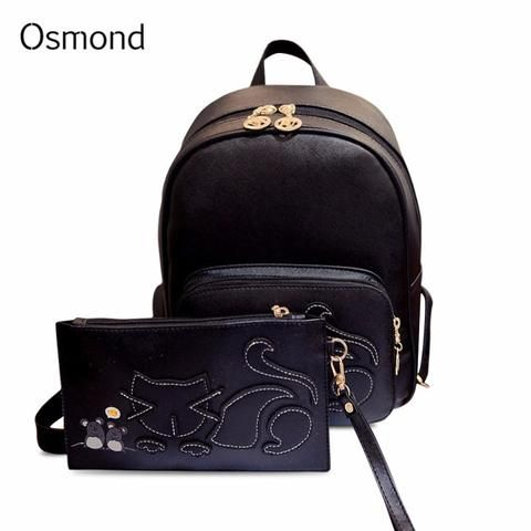 Nikkis Beauty Emporium Osmond Sale Leather Backpack Women School Bags for Teenagers Girls