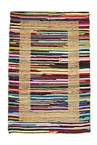 COTTON JUTE CHINDI WITH BOARDER 120X180CM RUG