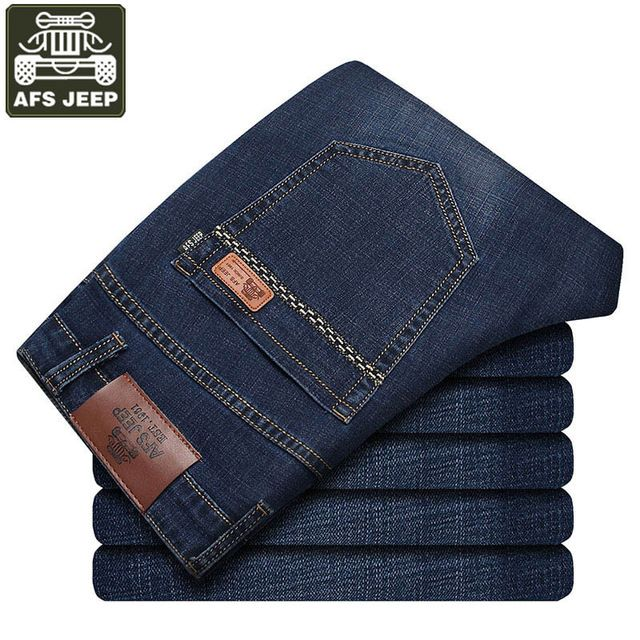 Check it on our site AFS JEEP 2017 Men's Jeans Straight Bermuda Jeans Masculina Autumn Male Denim Pant Mid-waist Trousers Men Balmai Jeans Homme just only $26.98 with free shipping worldwide  #jeansformen Plese click on picture to see our special price for you