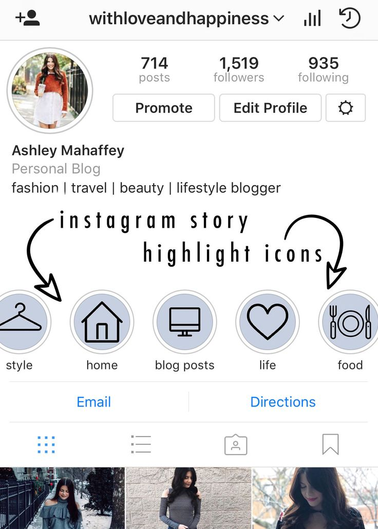 Instagram story highlight icons blue ready to download