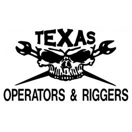 Texas Operators Amp Riggers Skull Decal Decals Vinyl