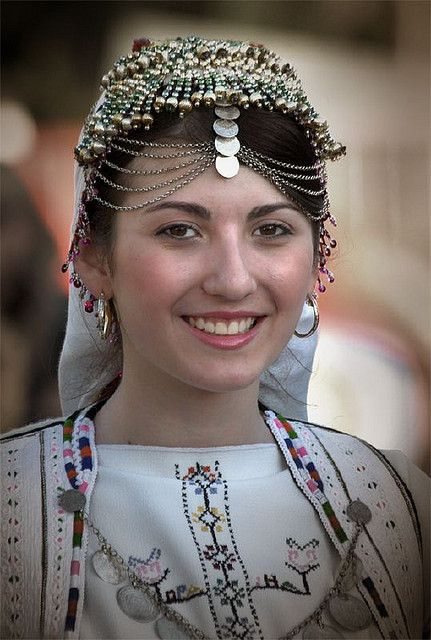 The Macedonian woman in her cultural dress