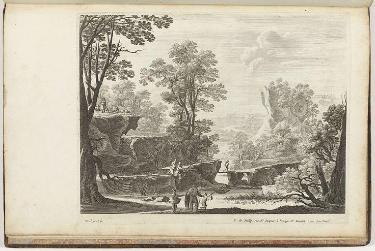 Landschap, Nicolas Perelle, François de Poilly (le vieux), Lodewijk XIV (koning van Frankrijk), c. 1680 - c. 1695