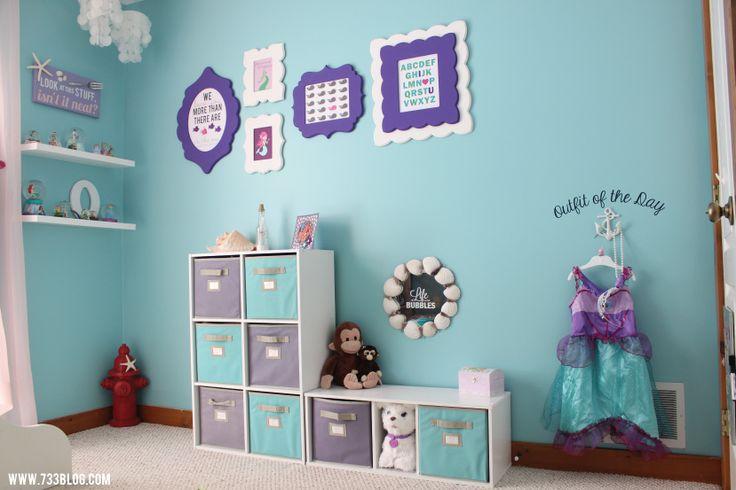 Little Girl's Mermaid Themed Room