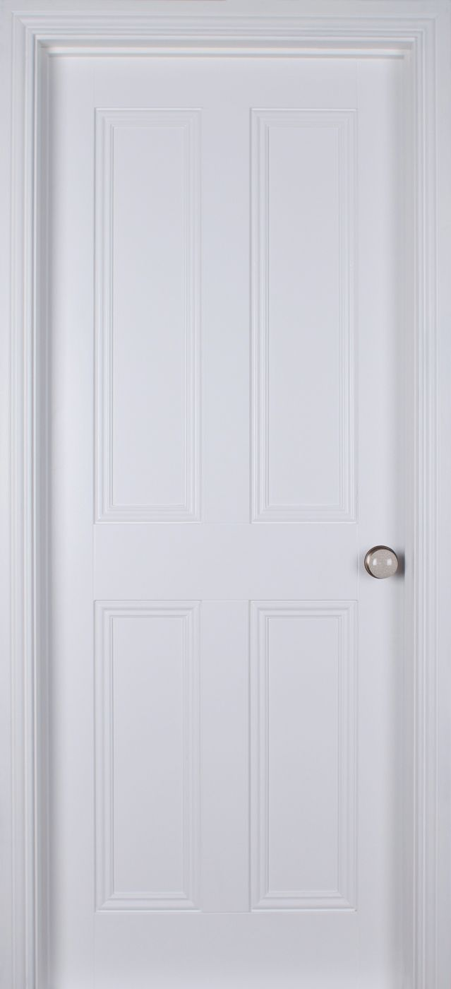 Plain White Interior Doors - Ardmore 4 panel white primed 40mm internal doors white internal doors