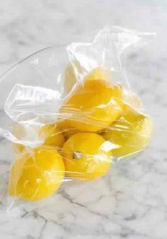 Une astuce très simple pour garder les citrons frais pendant un mois …