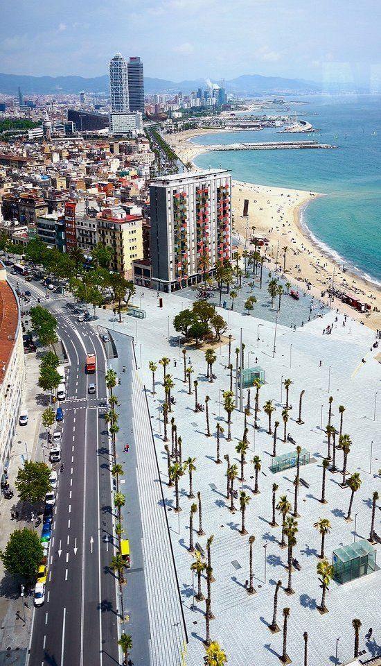 Dipped my feet in the Mediterranean at Barceloneta beach