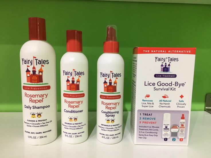 We are now carrying Fairy Tales Lice prevention/Lice Good-Bye Survival kit!