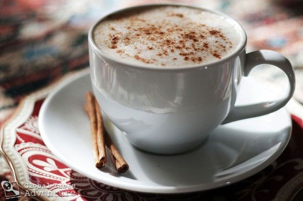 """If it's cold on Valentine's, try sharing a cup of hot tea like the """"Red Love Latte"""" made with red rooibos tea, cinnamon and honey. (Inspired by the cuisine of Lesotho, in Africa)"""
