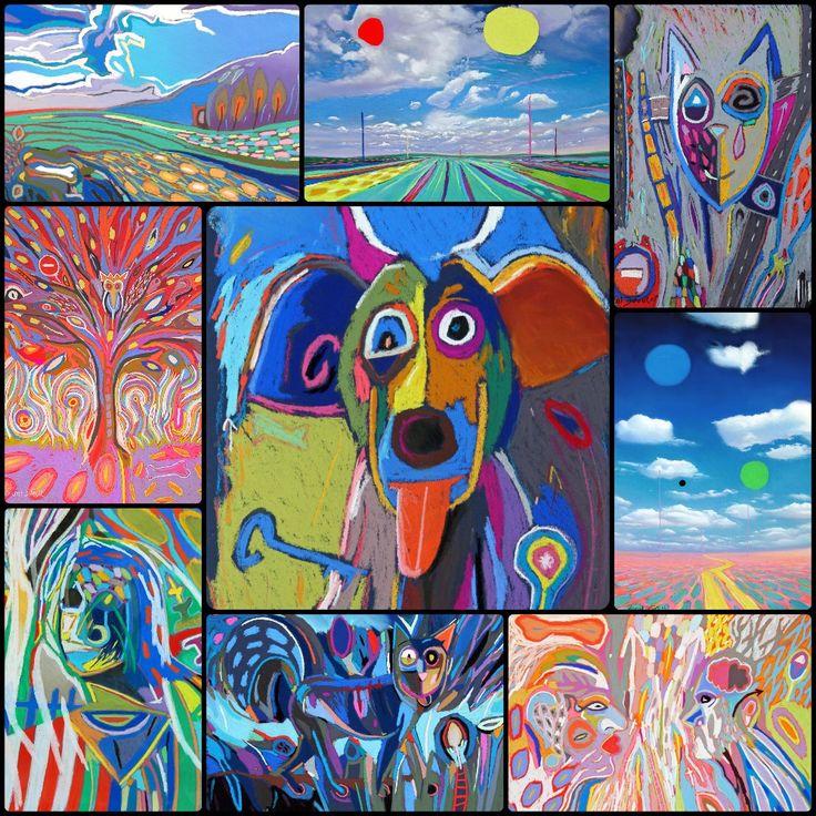 Tableaux de Vincent Dufour (pastel sec). Le blog: http://www.vincentdufour.com/blog/figuration-libre-nouvelle-figuration/  La boutique: http://www.vincentdufour.com/fr/29-figuration-libre