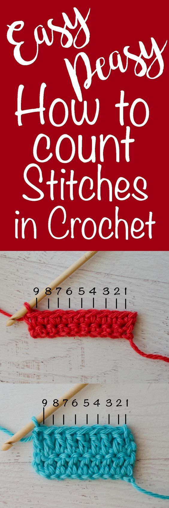 How To Count Stitches In Crochet Tutorial – (crochet365knittoo)