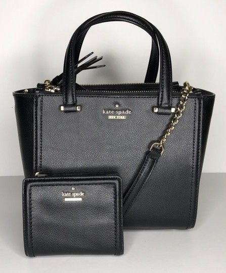 4de6349c502ac5 Kate Spade Patterson Drive Mini Kona and Matching Small Shawn Wallet Black  Leather Shoulder Bag. Get one of the hottest styles of the season!