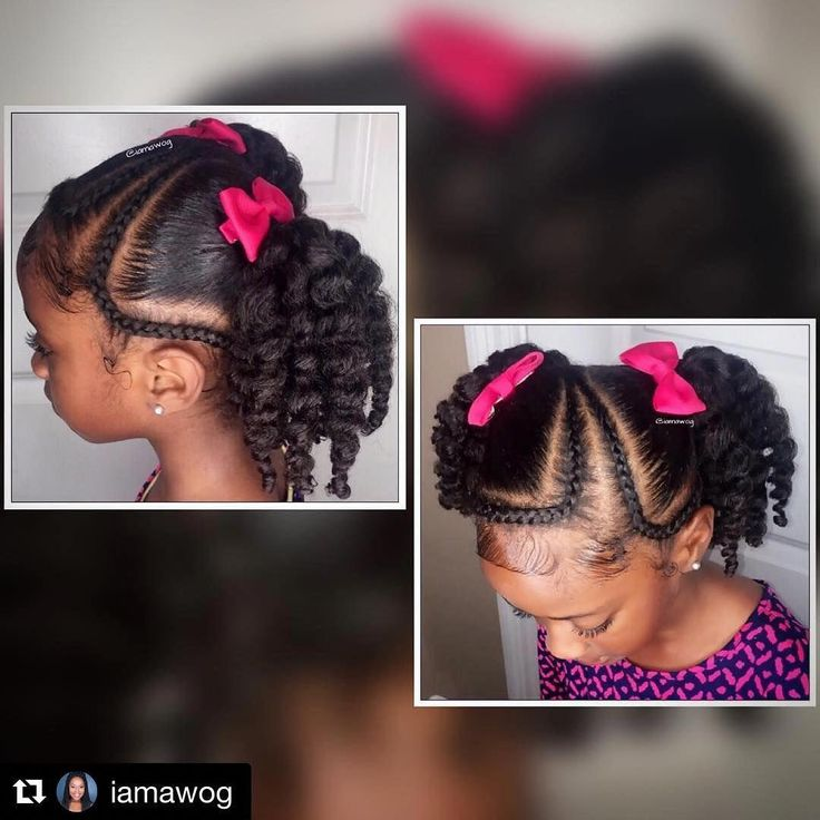 Afro Puff Ponytail | Short Hairstyles For Young Black Ladies | Two Ponytail Hairstyles 20190617 ...