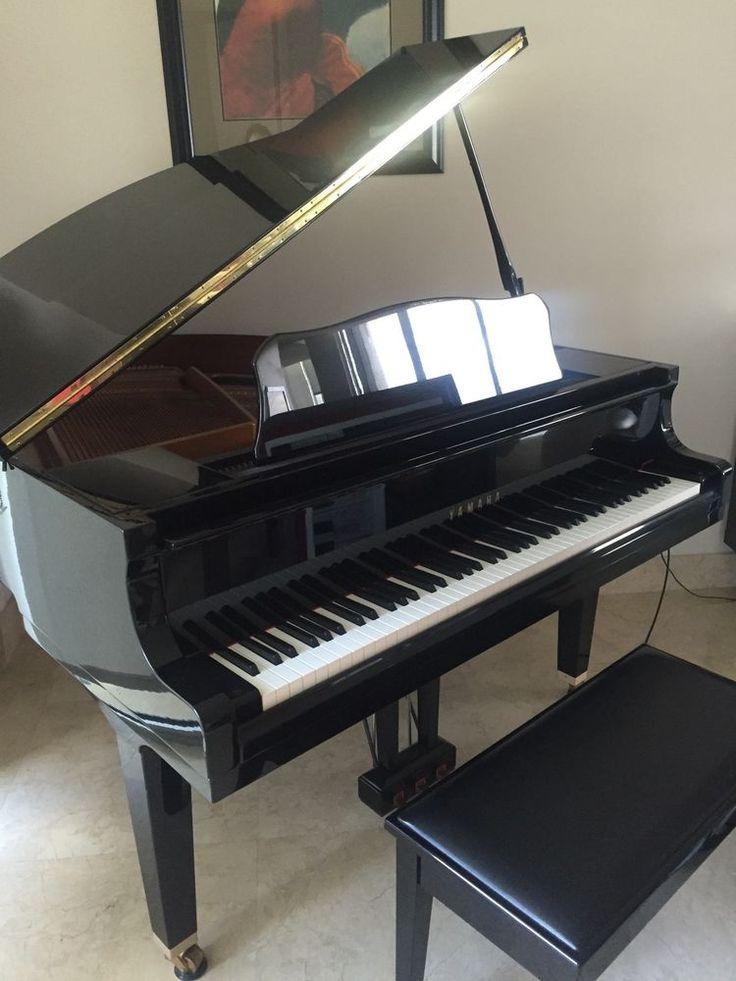 Yamaha ga1 baby grand piano polished ebony w bench baby for Yamaha piano baby grand