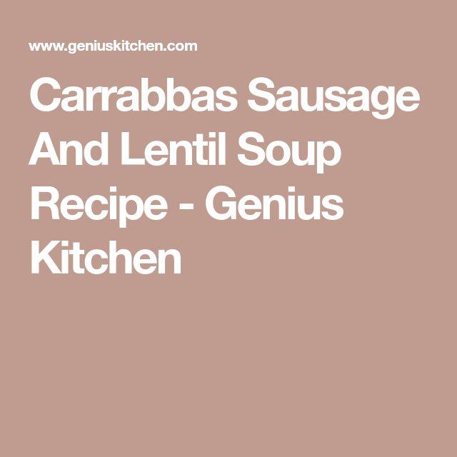 Carrabbas Sausage And Lentil Soup Recipe - Genius Kitchen