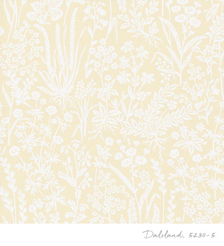 Tapet 5230-5 från kollektionen Blomstertiden. TAPETSTUDION, Nordic Wallpaper AB.
