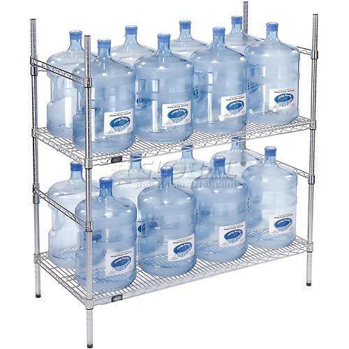 5 Gallon Water Bottle Storage Rack, 16 Bottle Capacity