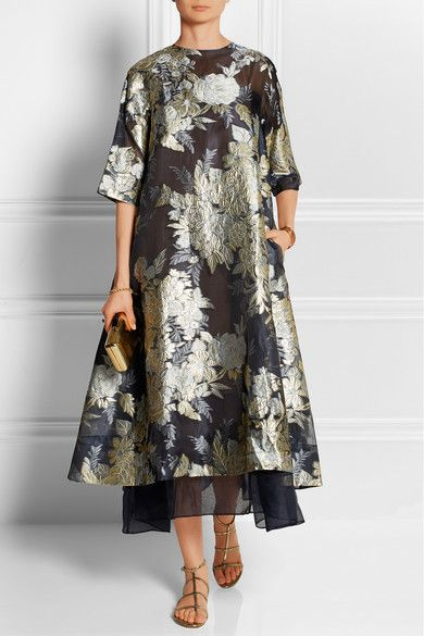 Biyan - Adine oversized embroidered organza dress