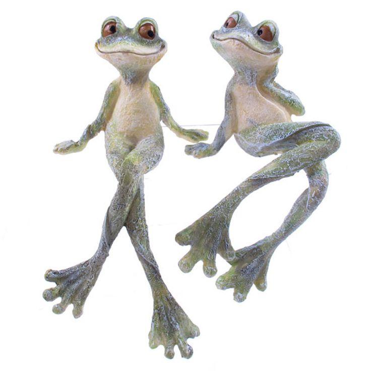 Cute Long Leg Frog Relaxed Shelf Sitter Ornament