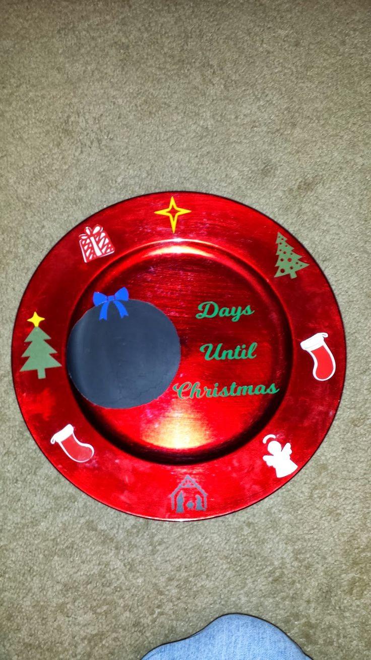 P&E Creations: Christmas countdown plate.  http://pandecreations.blogspot.com/2014/11/christmas-countdown-plate.html