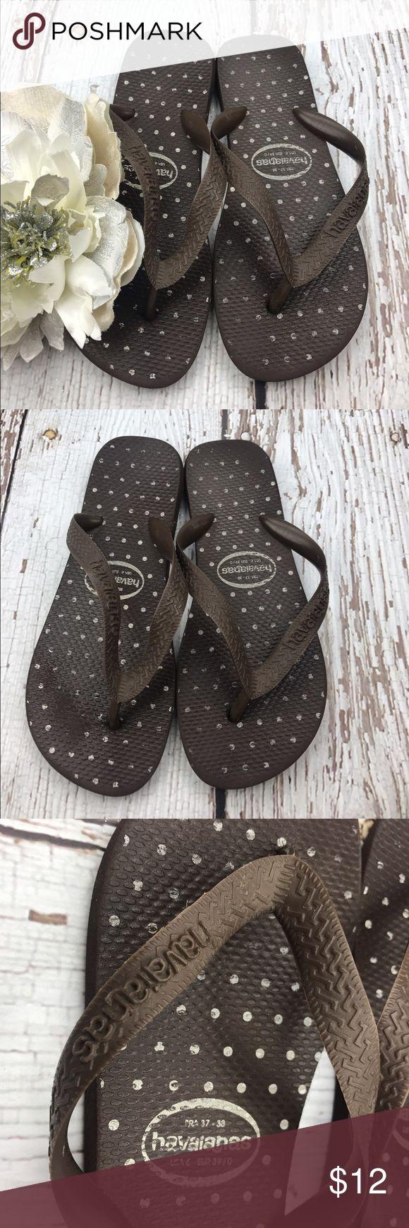 💕SALE💕 Havaianas Chocolate Brown Polka Dot Flip Fantastic 💕 Havaianas Chocolate Brown Polka Dot Flip Flops Havaianas Shoes Sandals