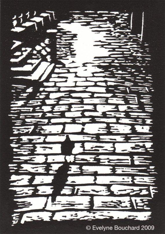 Venetian Pigeon \/ Original Linocut Print