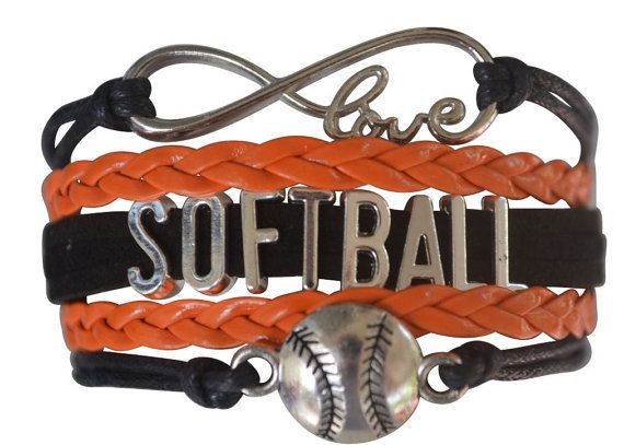 Softbal sieraden-meisjes Softbal armband door MyInfinityCollection